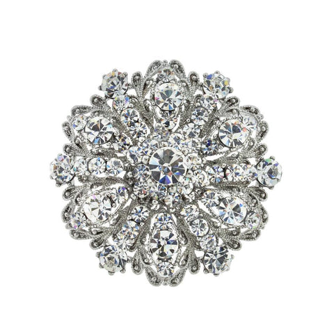 Round Vintage-Style Brooch