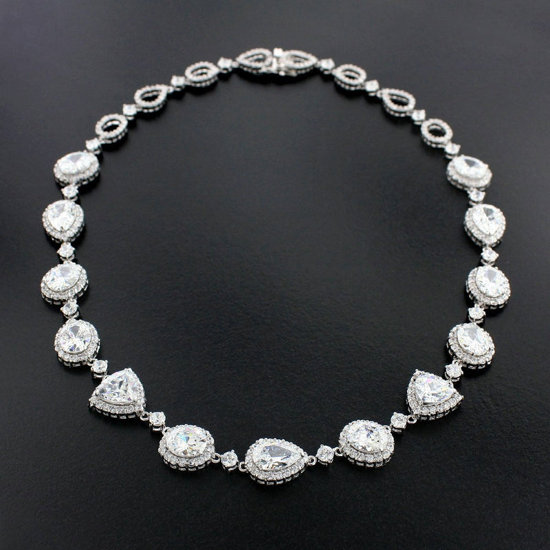 Necklace with Large CZ Stones
