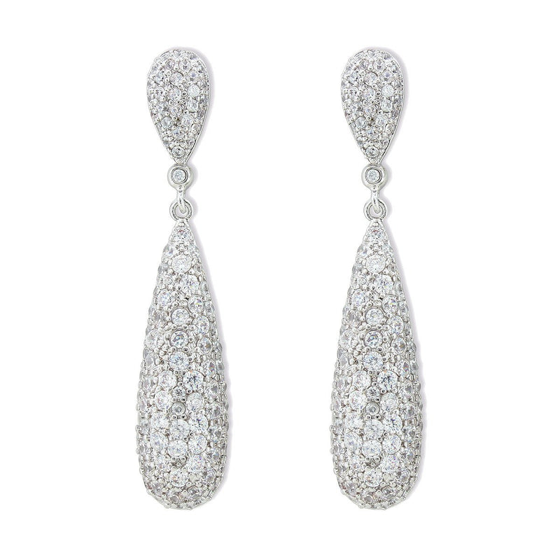 Elongated Pave CZ Earrings