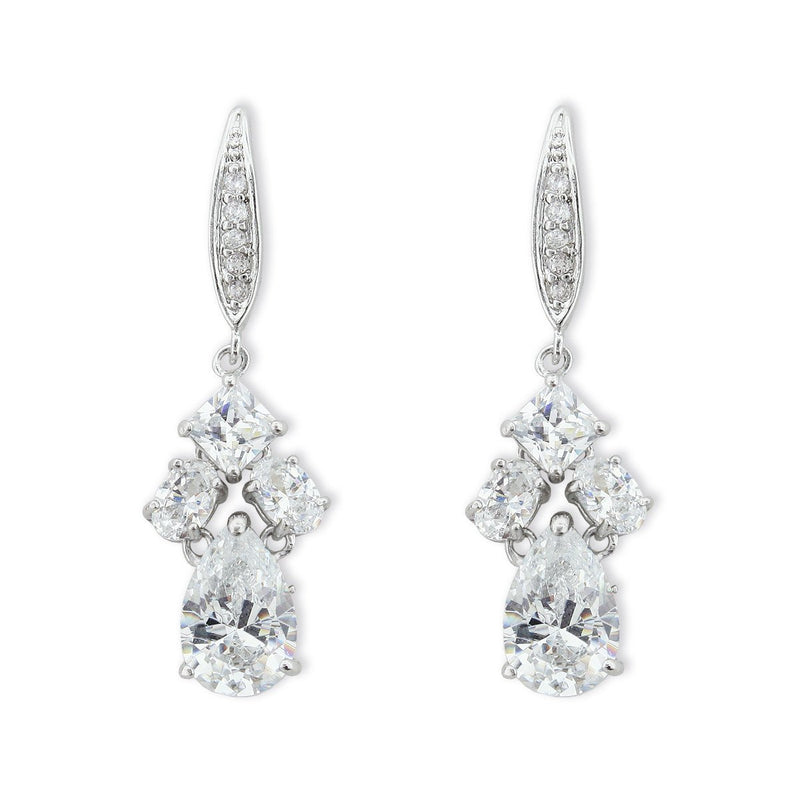 Multi-Shape CZ Earrings