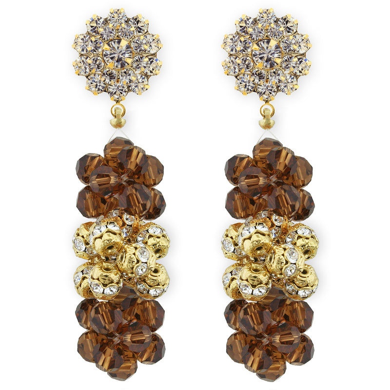 smoked topaz earrings - RS143EF