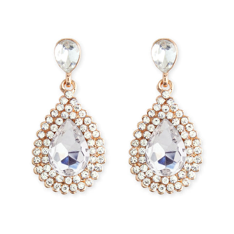 Teardrop Earrings with Pear Center