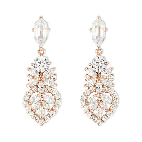Detailed CZ Earrings