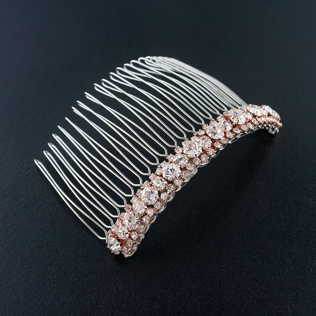 Rose gold Rhinestone Sparkle Haircomb