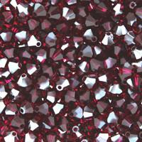 Ruby Satin Crystal Beads