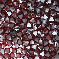 Siam Satin Crystal Beads