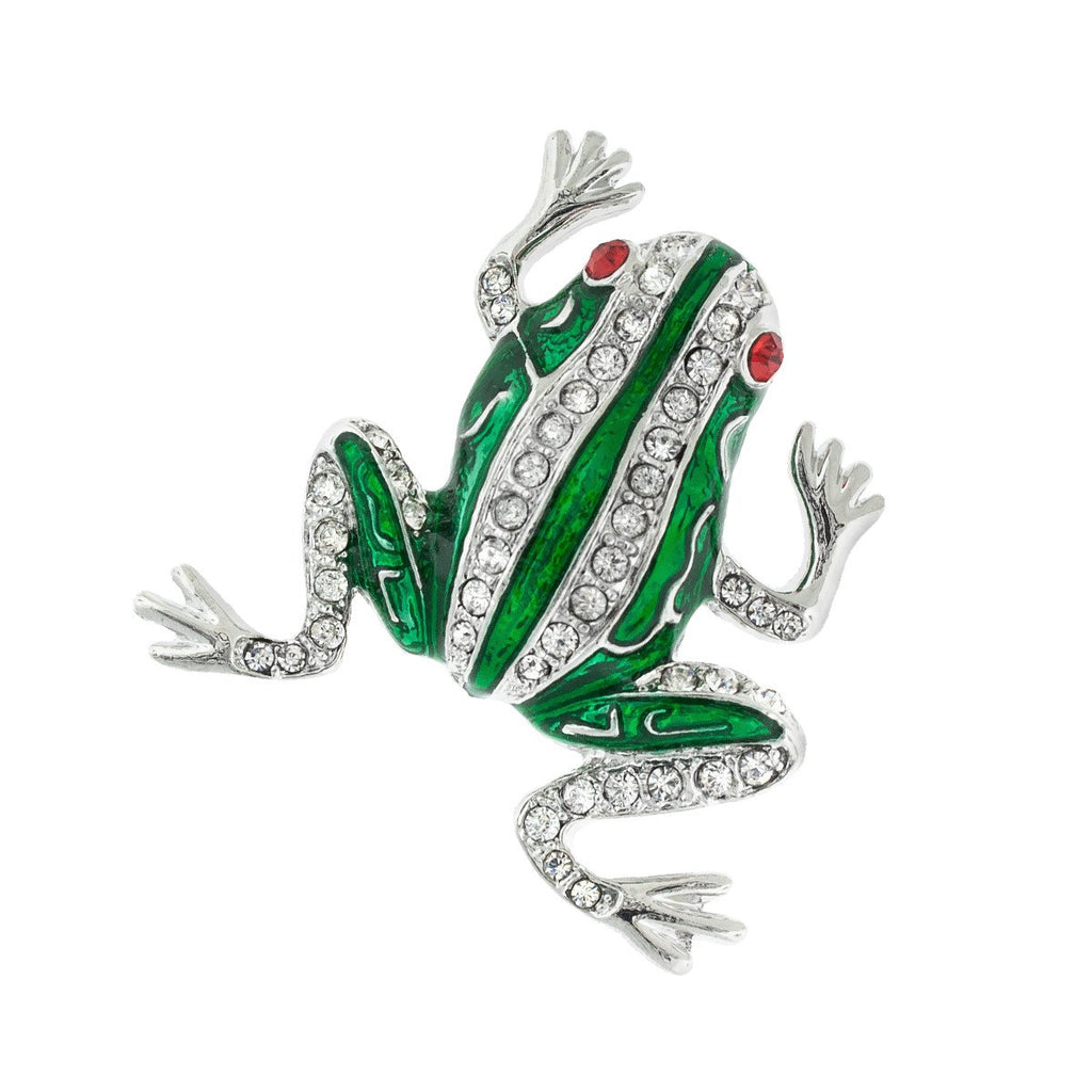 Frog Pin with Crystals