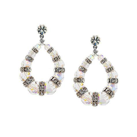 Beaded Loop Earrings with Rondelles