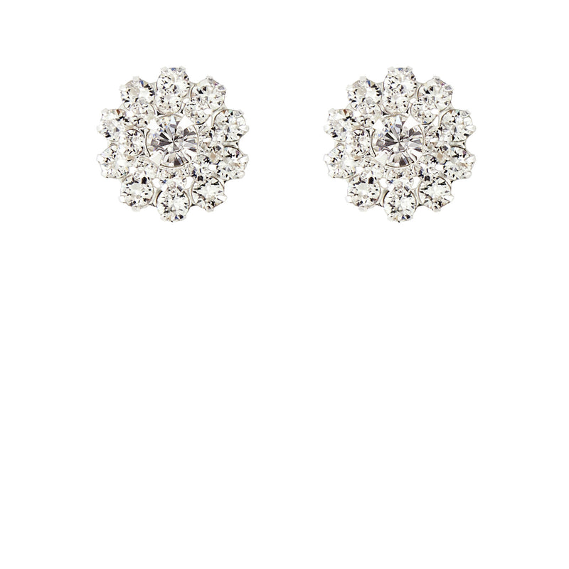 multi-stone crystal stud earrings