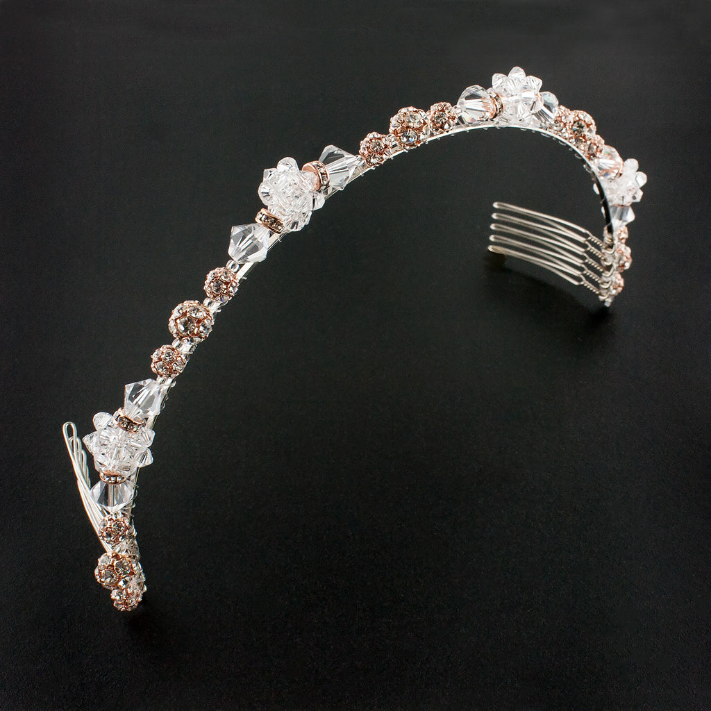 Beaded Rose Gold Headband