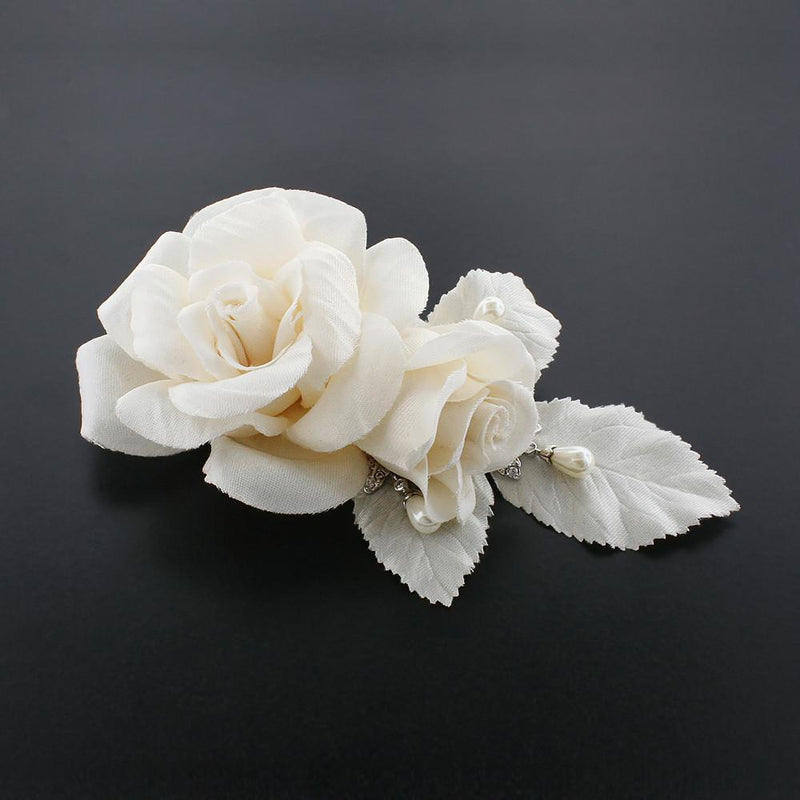 Bridal Hairclip with Satin Roses