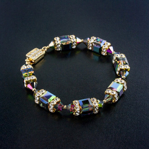 Geometric Beaded Crystal Bracelet