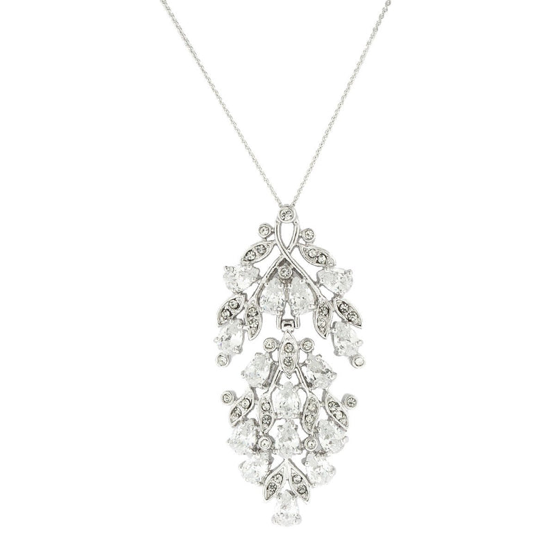 "2"" Multi-Stone CZ Pendant on Chain"