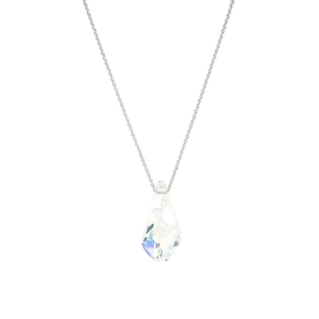 Iridescent Crystal Pendant Necklace