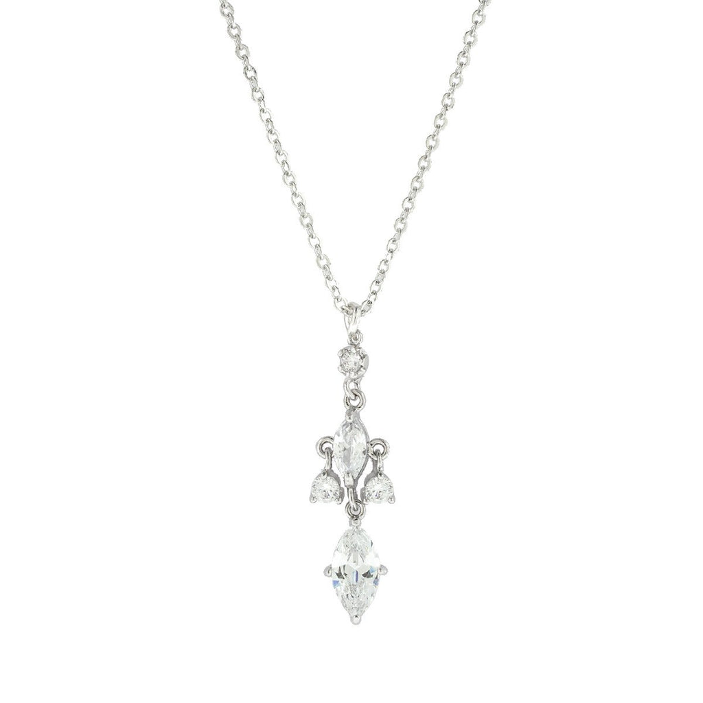 Marquise CZ Pendant on Chain