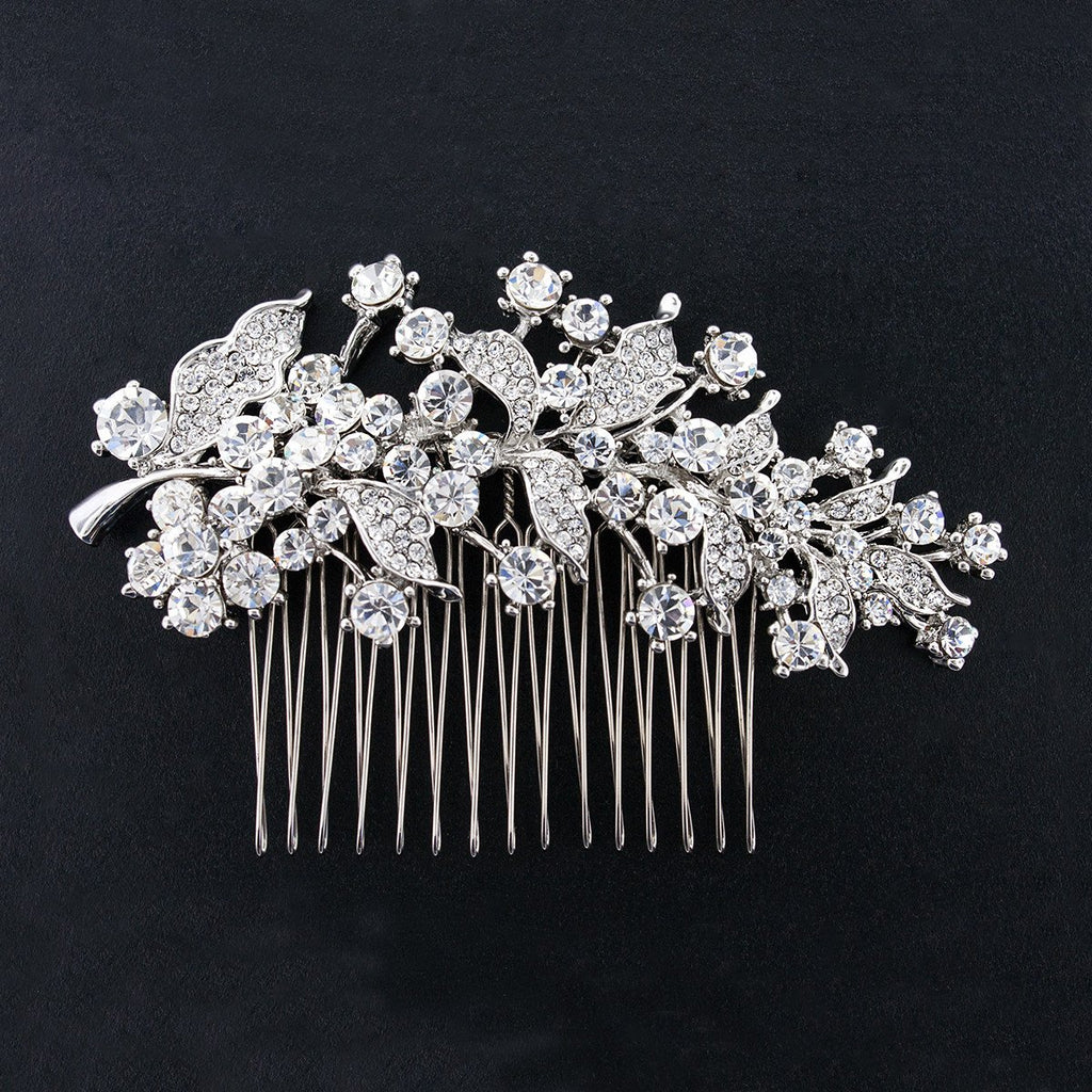 Bridal Hair Comb with Crystal