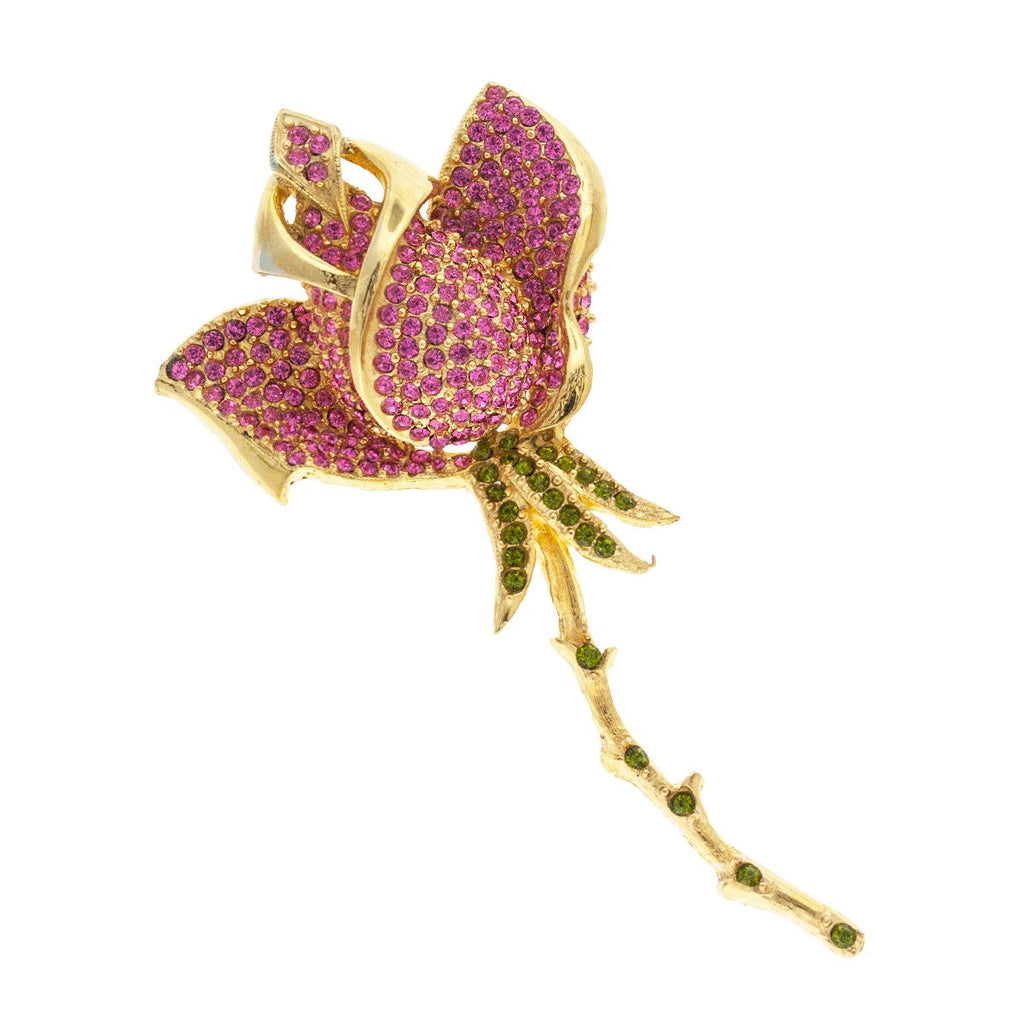 Pink & Green Flower Pin