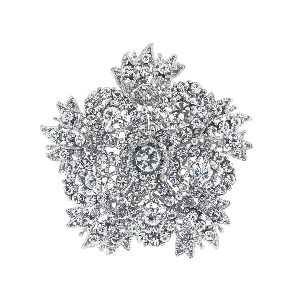 Five Sided Floral Brooch