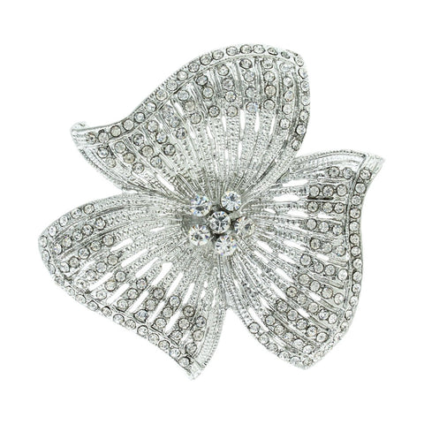 Three Petal Flower Brooch