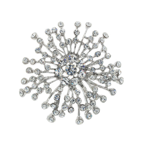 Spray Brooch with Round Stones