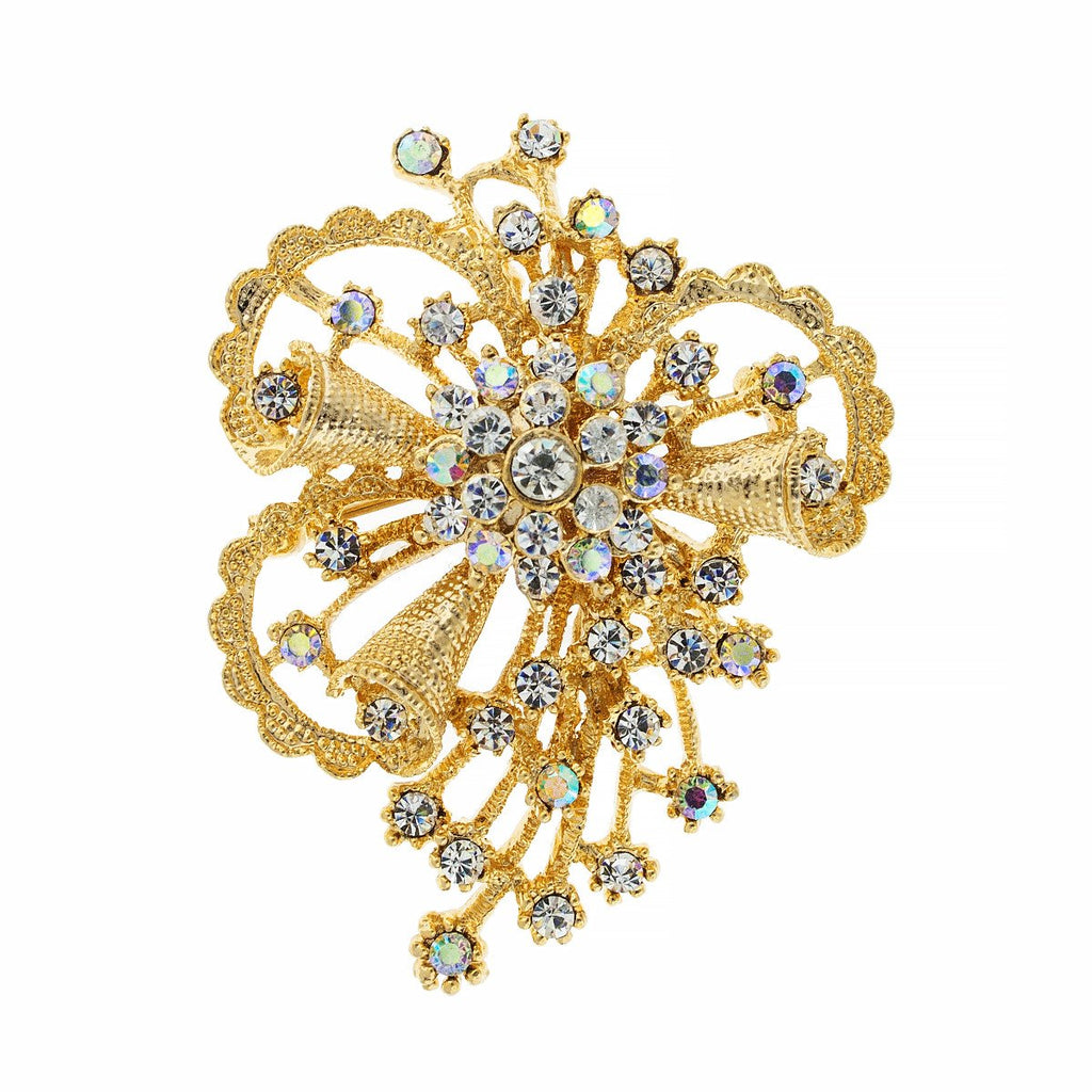 Whimsical Crystal Brooch