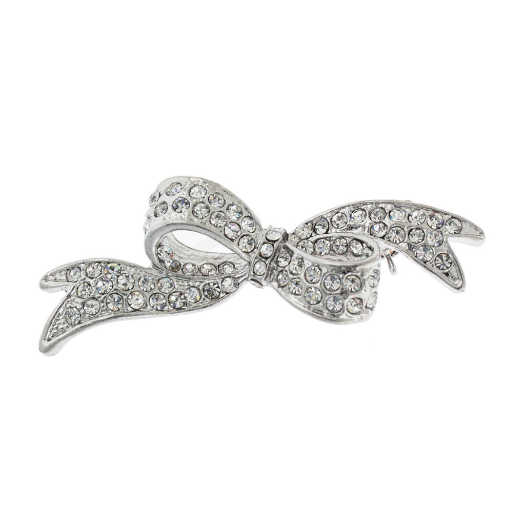 Pave Crystal Bow Pin
