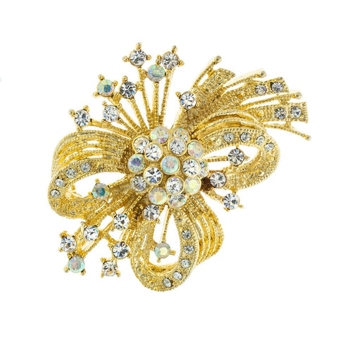 Spray Brooch, Gold Plate