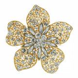 Large Flower Pin, Gold
