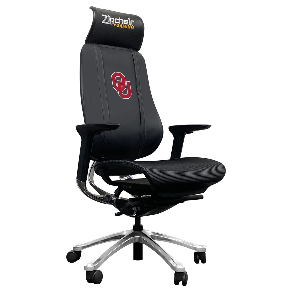 PhantomX Gaming Chair with Oklahoma Sooners Logo