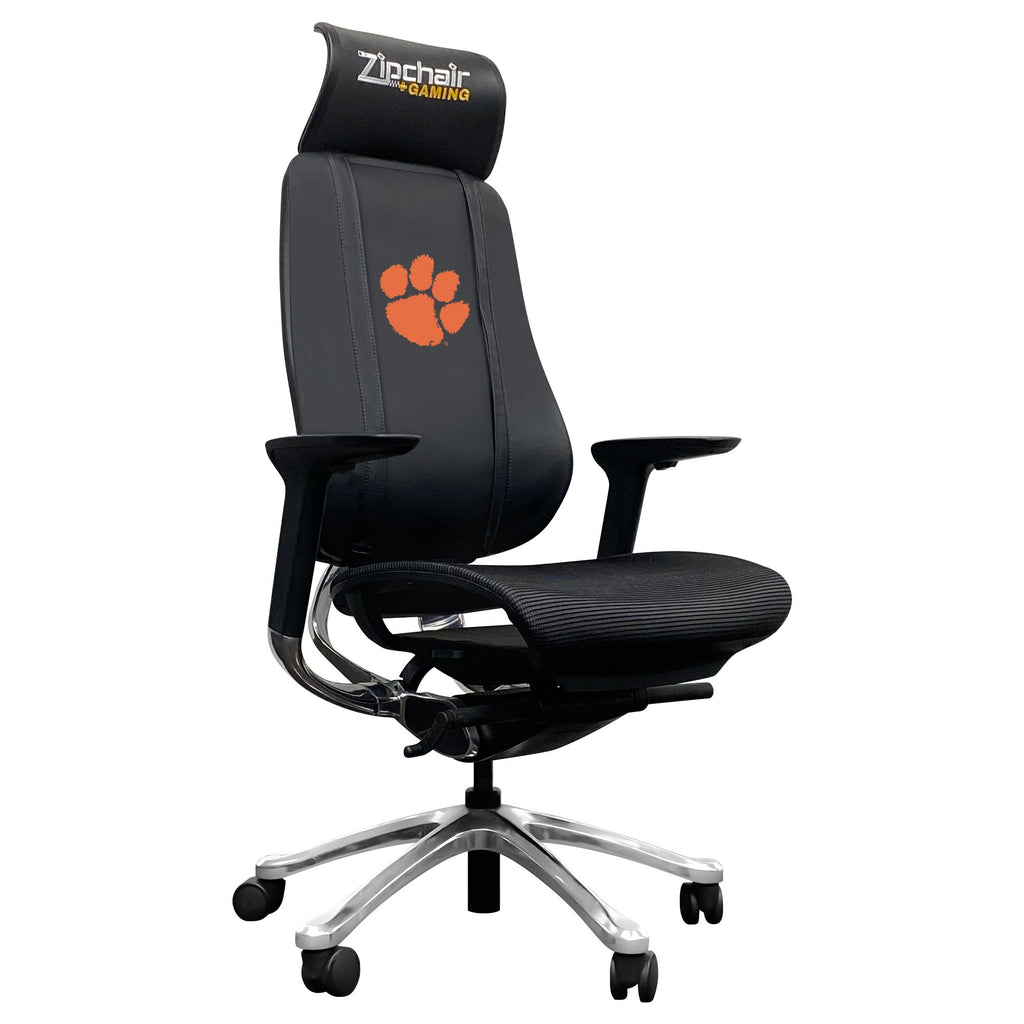 PhantomX Gaming Chair with Clemson Tigers Logo