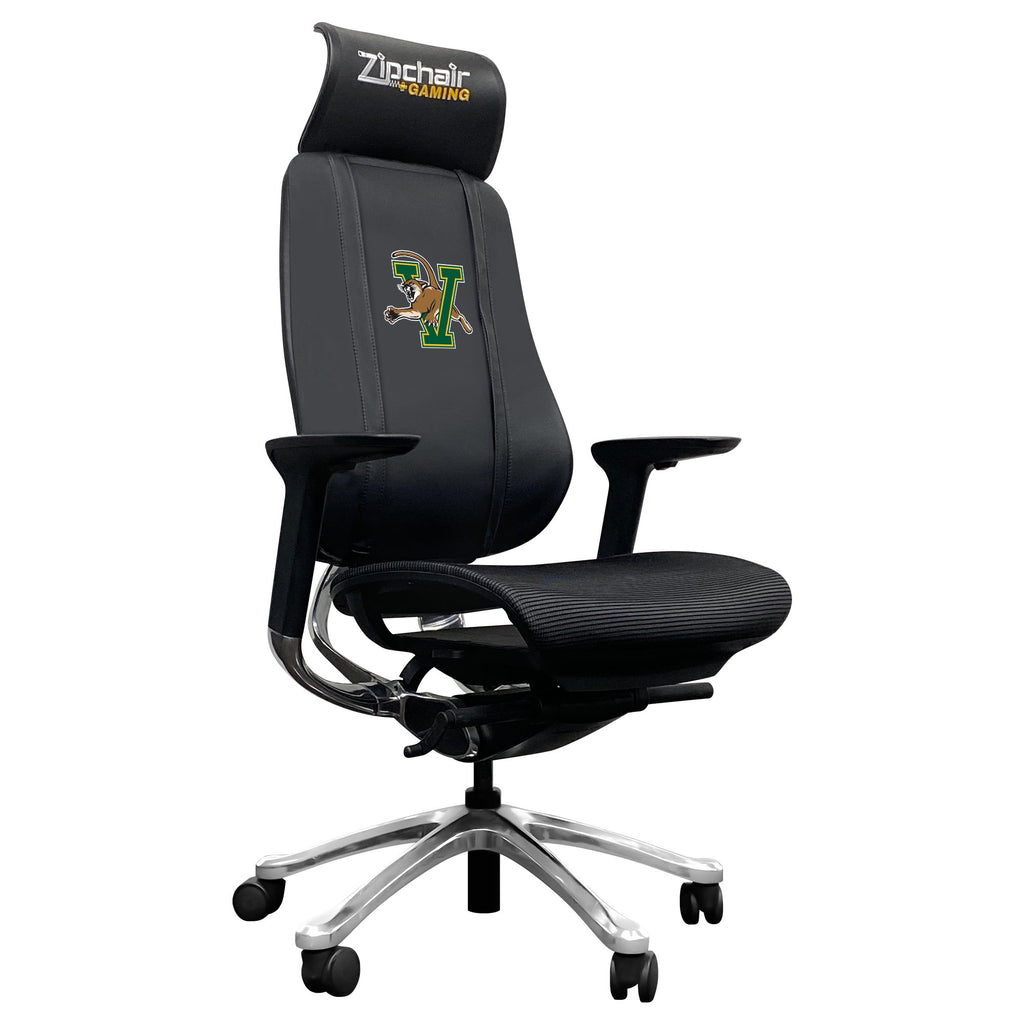 PhantomX Gaming Chair with Vermont Catamounts Logo