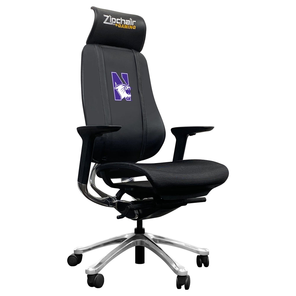 PhantomX Gaming Chair with Northwestern Wildcats Logo