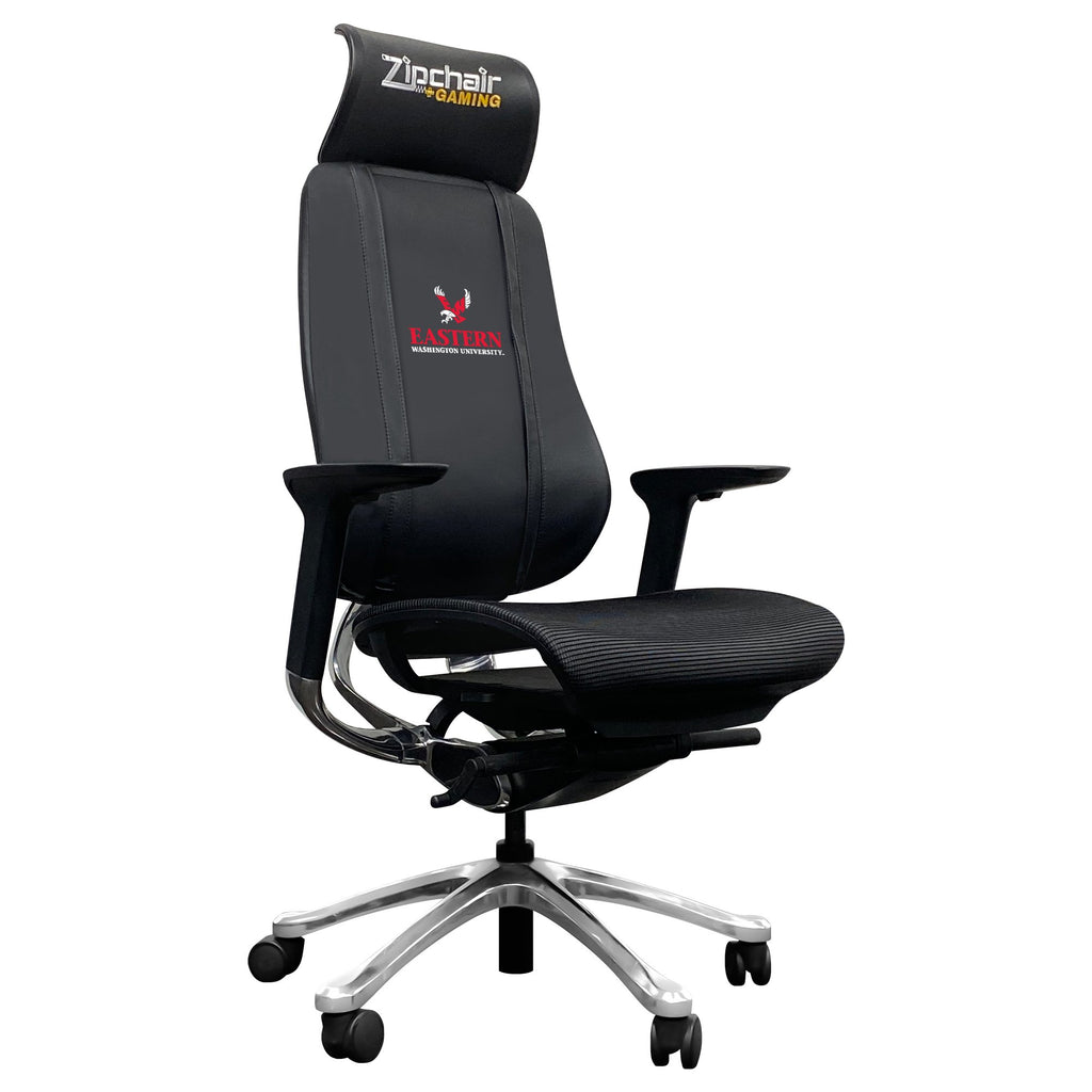 PhantomX Gaming Chair with Eastern Washington Eagles Logo