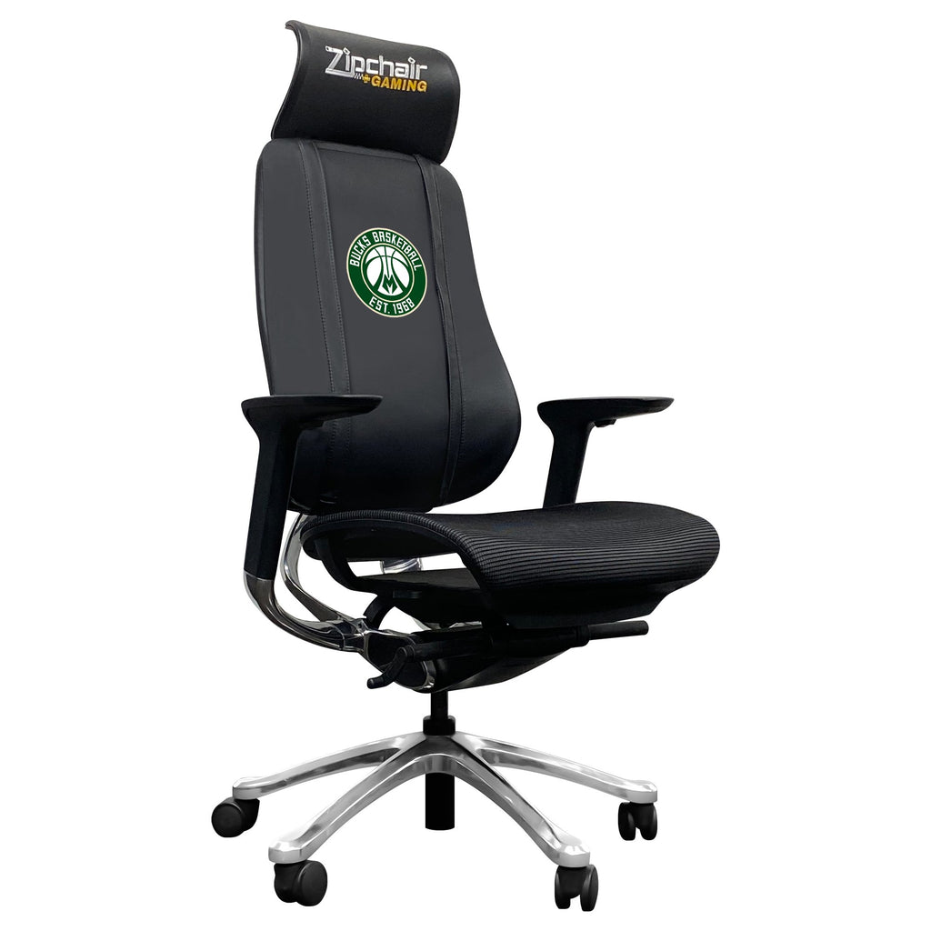 PhantomX Mesh Gaming Chair with Milwaukee Bucks Secondary Logo