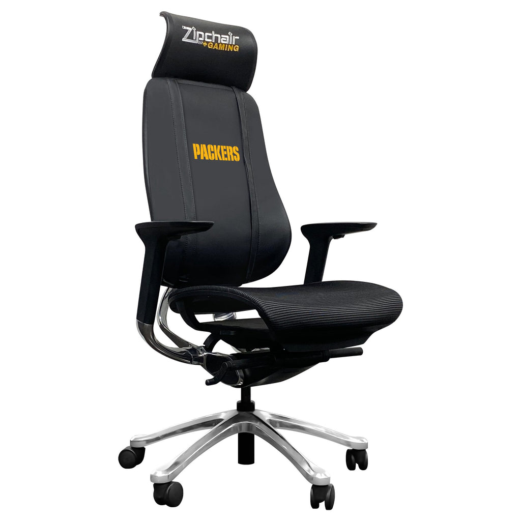 PhantomX Mesh Gaming Chair with  Green Bay Packers Secondary Logo