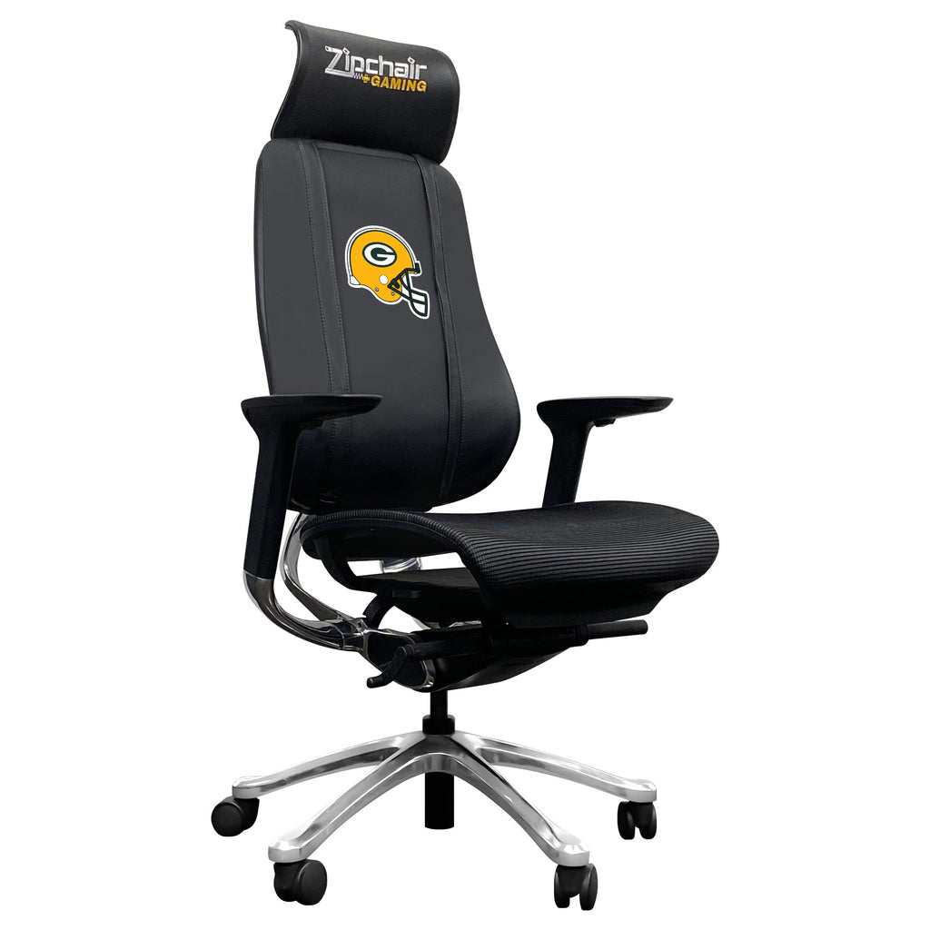 PhantomX Mesh Gaming Chair with  Green Bay Packers Helmet Logo