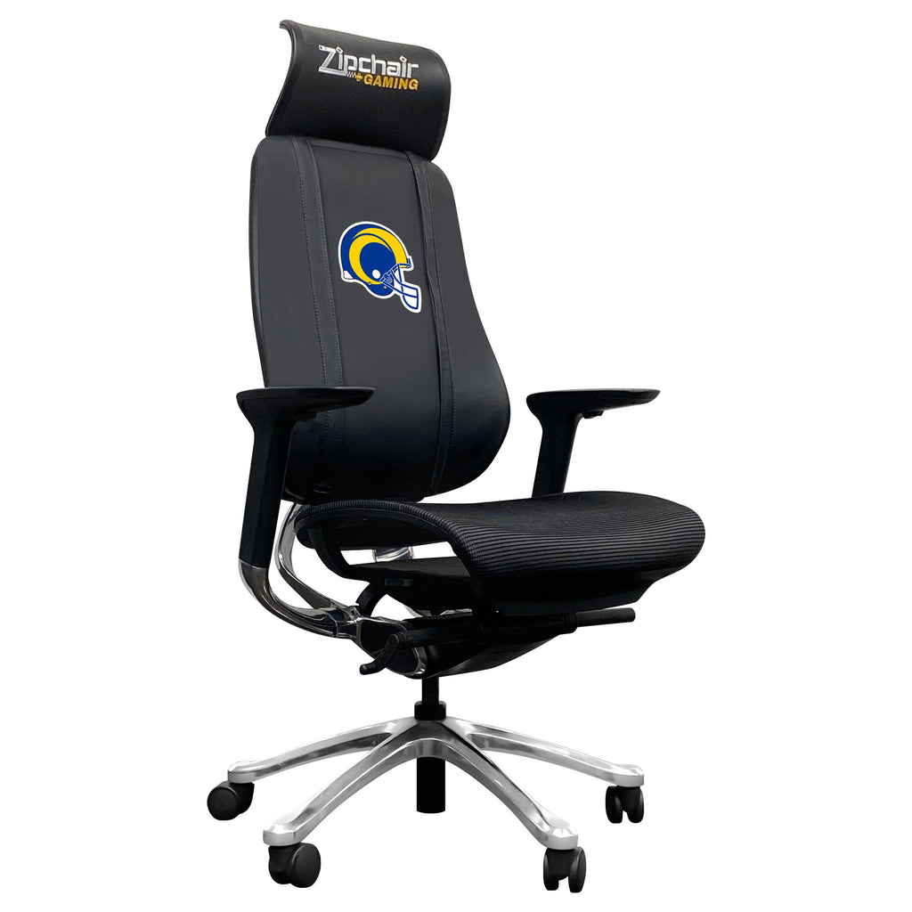 PhantomX Mesh Gaming Chair with  Los Angeles Rams Helmet Logo