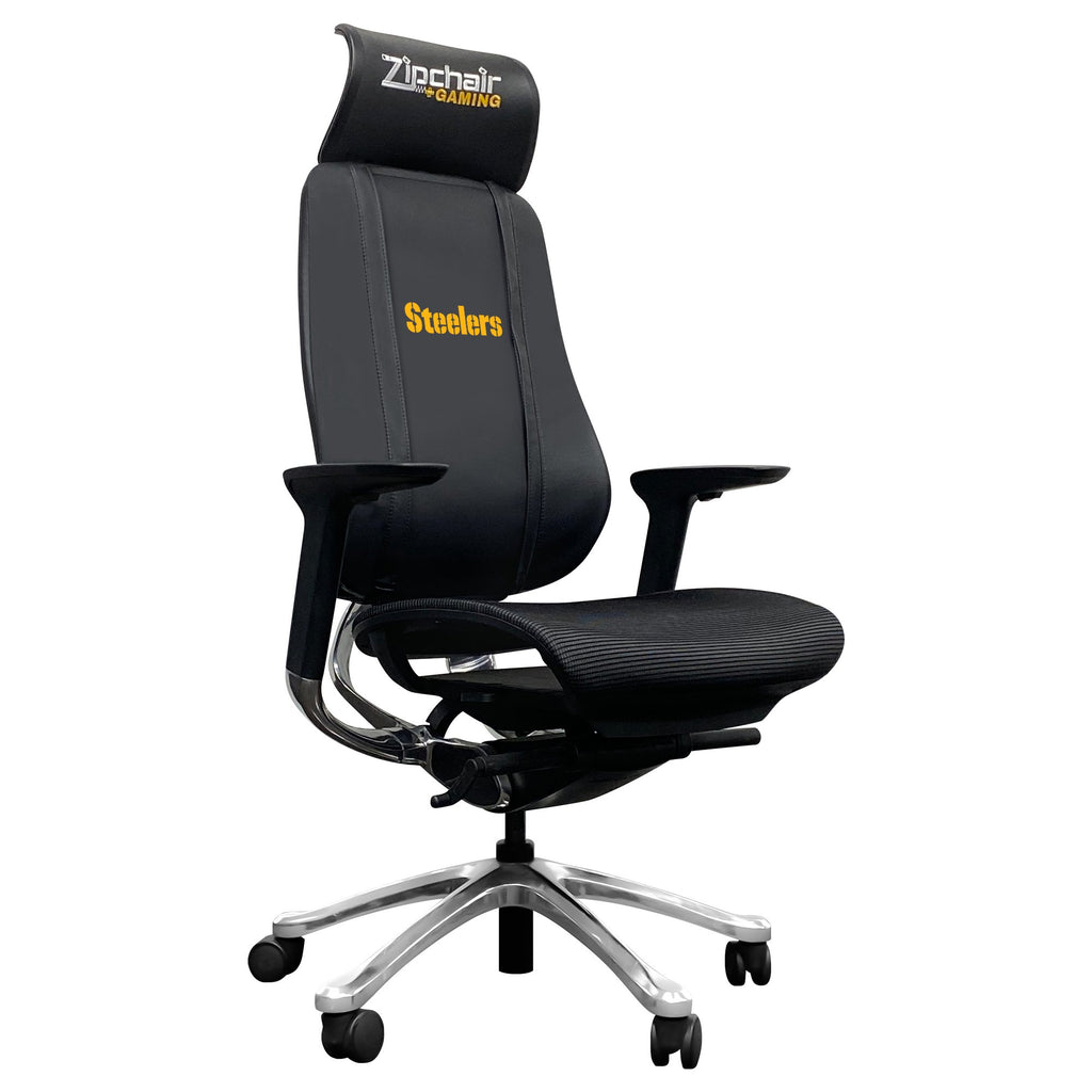PhantomX Mesh Gaming Chair with  Pittsburgh Steelers Secondary Logo