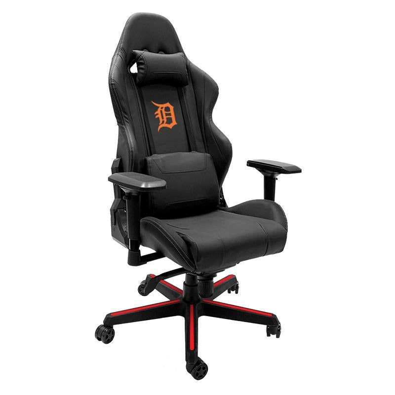 Detroit Tigers Orange Xpression Gaming Chair with Logo