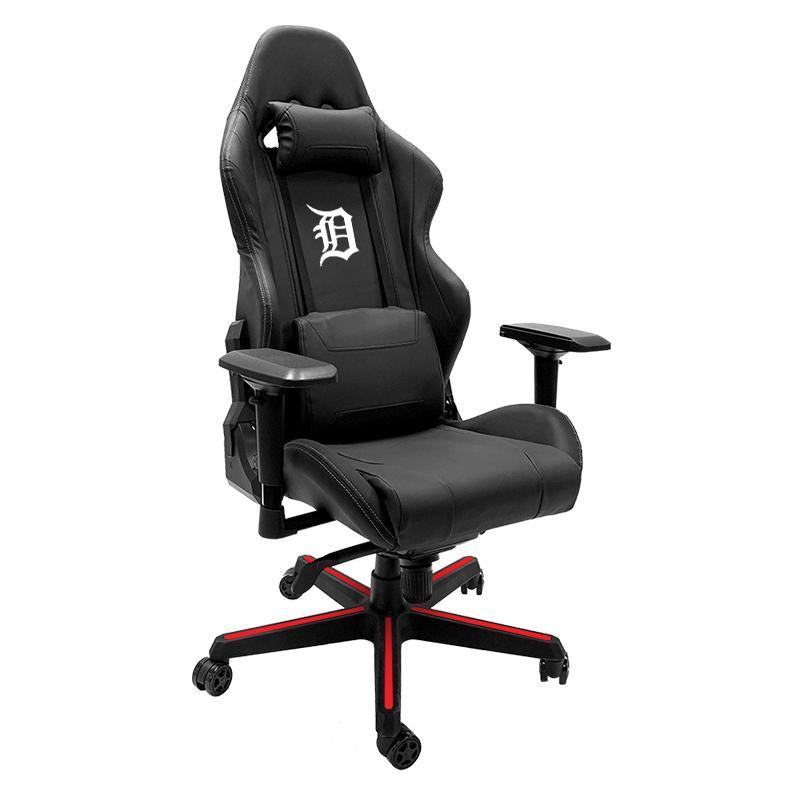 Detroit Tigers White Xpression Gaming Chair with Logo