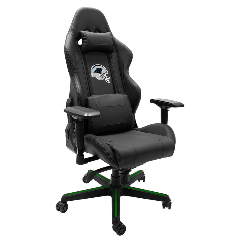 Xpression Gaming Chair with  Carolina Panthers Helmet Logo