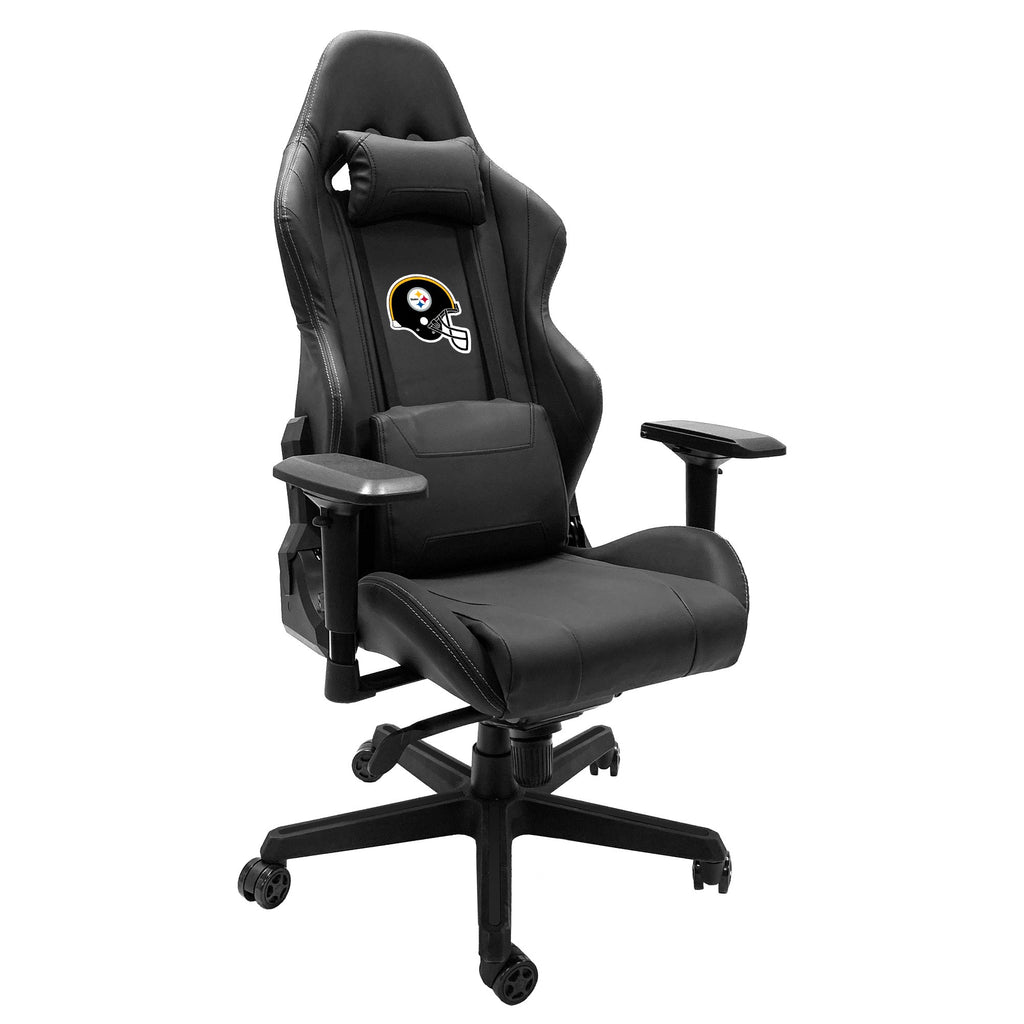 Xpression Gaming Chair with  Pittsburgh Steelers Helmet Logo