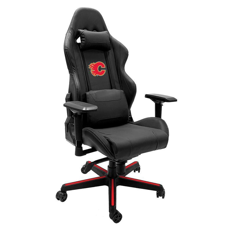 Calgary Flames Red Xpression Gaming Chair with Logo