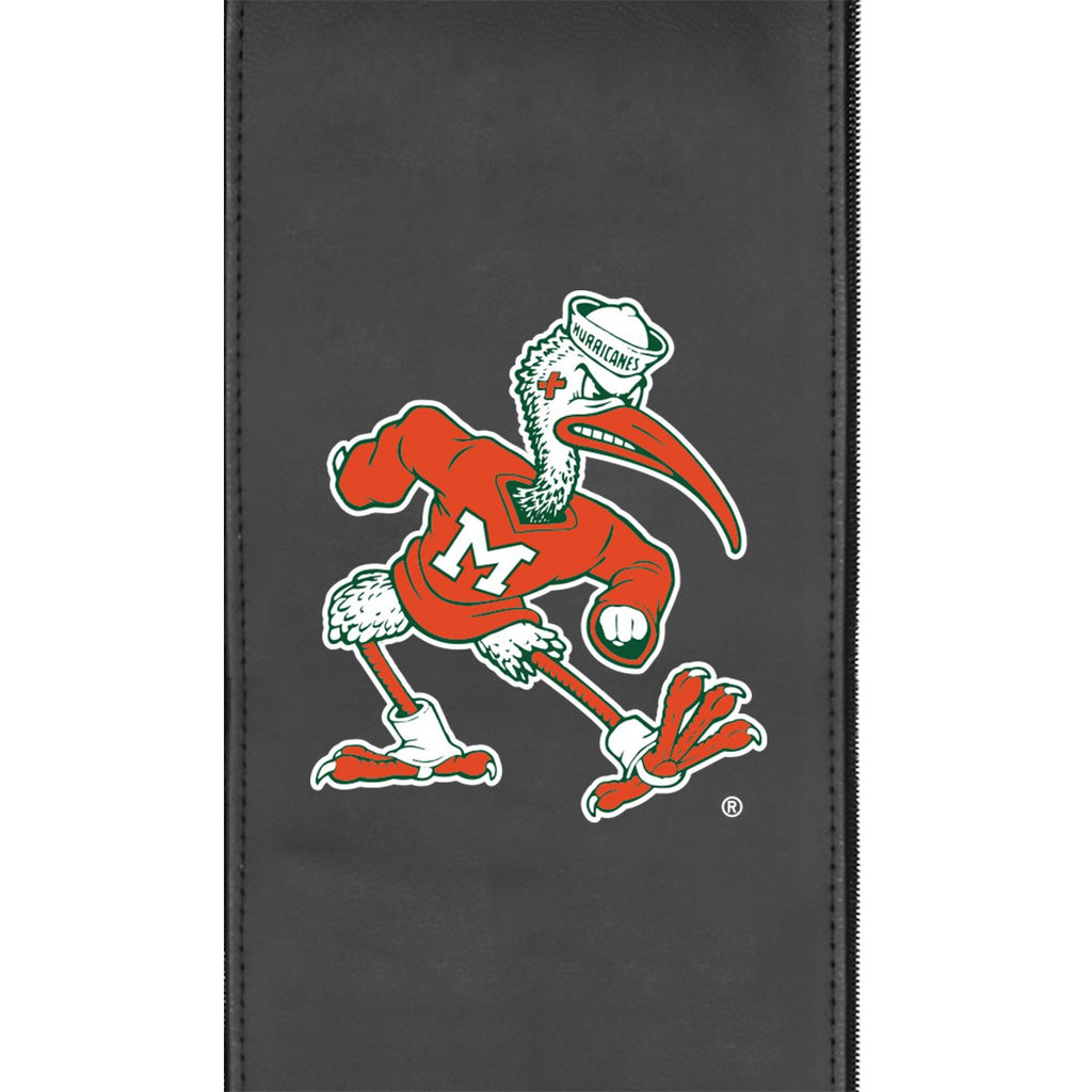 Miami Hurricanes Secondary Logo Panel For Xpression Gaming Chair Only