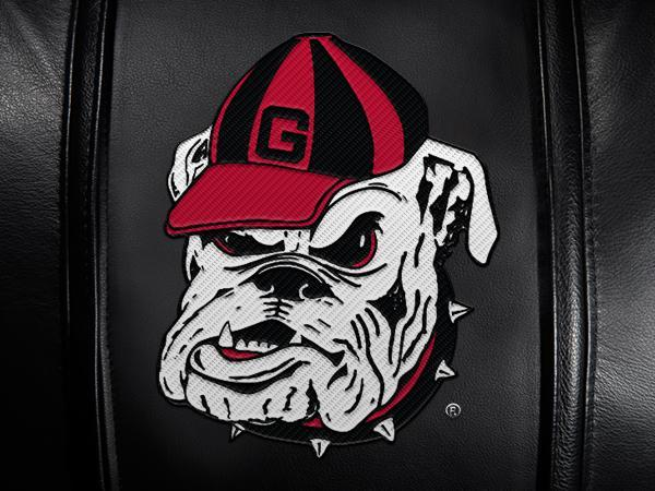 Georgia Pinstripe Bulldog Logo Panel For Stealth Recliner