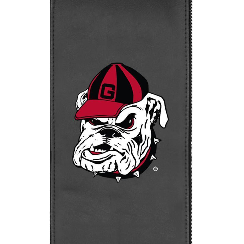 Georgia Pinstripe Bulldog Logo Panel For Xpression Gaming Chair Only