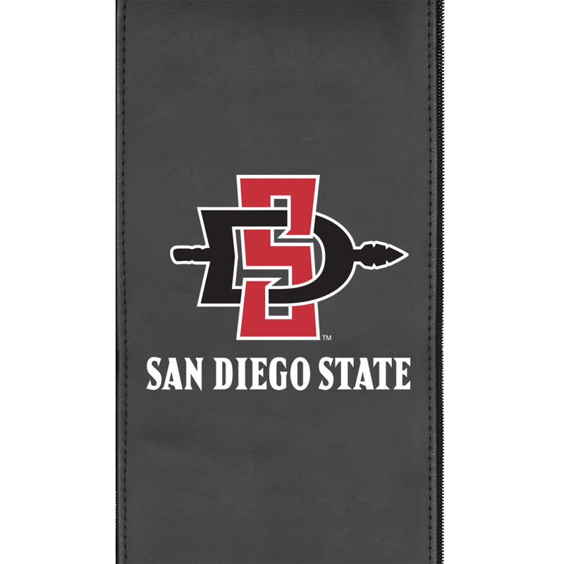 Logo Panel with San Diego State Primary Fits Xpression Gaming Chair Only