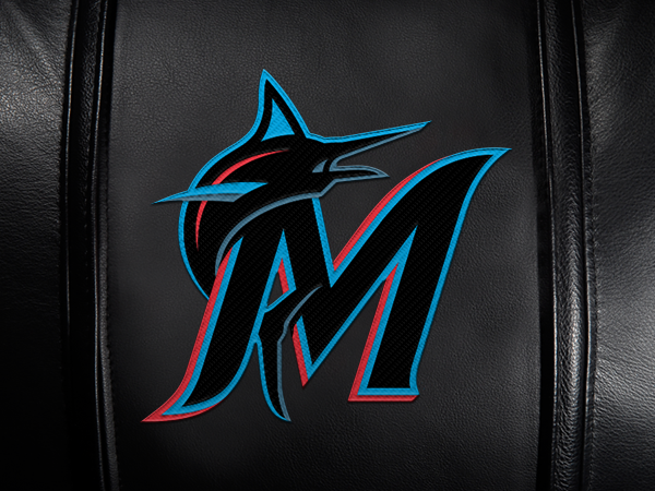 Miami Marlins Secondary Logo Panel For Xpression Gaming Chair Only