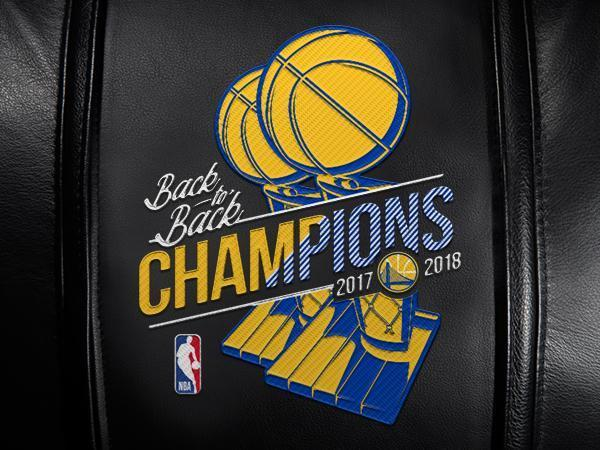 Golden State Warriors 2018 Champions Logo Panel For Xpression Gaming Chair Only