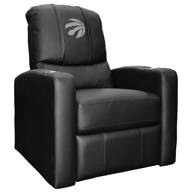 Stealth Recliner with Toronto Raptors Primary Silver  Logo